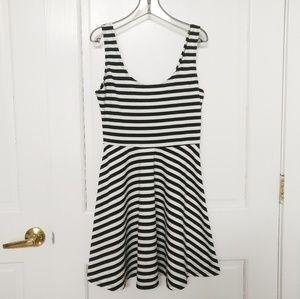 Bar III Striped A-line Flare Dress